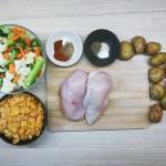 Pieczone warzywa z kurczakiem w chrupiącej panierce