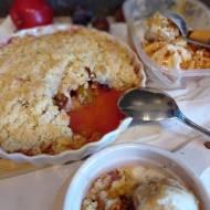 Crumble ze śliwkami i jabłkami (Owoce pod kruszonką)