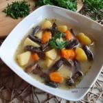 Zupa grzybowa ze świeżych grzybów leśnych
