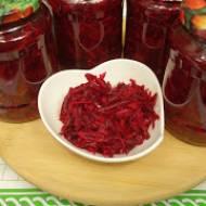 Buraczki z marchewką i jabłkami na zimę  - sałatka do słoików
