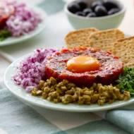 Tatar z pieczonych warzyw