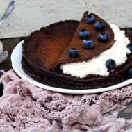 Naleśniki czekoladowe z twarożkiem
