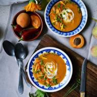 Morelowa zupa krem z soczewicą, czyli miseczki pełne ciepła końca lata