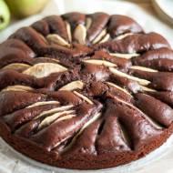 Proste ciasto czekoladowe z gruszkami. Idealne do kawy