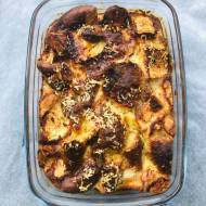 Chlebowy pudding z grzybami