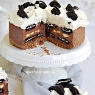 Łatwy TORCIK czekoladowy BEZ PIECZENIA z OREO i bananem