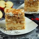 Jabłkowy budyniowiec (bez pieczenia)