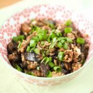 Smażony ryż z grzybami leśnymi i jajkiem