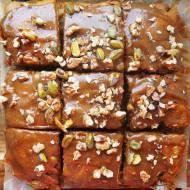 Łatwe i szybkie wegańskie ciasto z jabłkami i masłem orzechowym