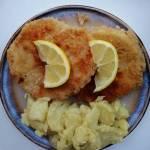 Austria - Wiener Sellerieschnitzel mit steirischem Kartoffelsalat, czyli sznycel z selera po wiedeńsku ze styryjską sałatką ziem