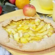 Rustykalna tarta z jabłkami o smaku cytrynowym