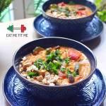 Curry z cukinii i bakłażanów w wersji wegańskiej lub w wersji z indykiem