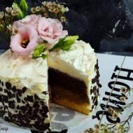 Tort podwójnie czekoladowy z bezą