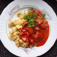 Rydze w kremowym pomidorowym sosie