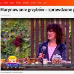 Przetwory z grzybów - Pytanie na Śniadanie, czyli Gatita w telewizji