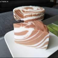 Jogurtowa zebra bez pieczenia