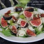 Mizuna z figami, gruszką i serem pleśniowym