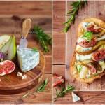 Tosty z figą i gruszką / Toast with fig and pear