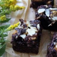 Brownie z gruszkami  i migdałami