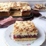 Ciasto Ofelia z wiśniami z kompotu i budyniem / Cherry Pudding Layer Cake