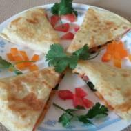 Quritto quesadilla tortille z kurczakiem i kukurydzą