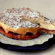 Ciasto sypane ze śliwkami i pianką - przepis