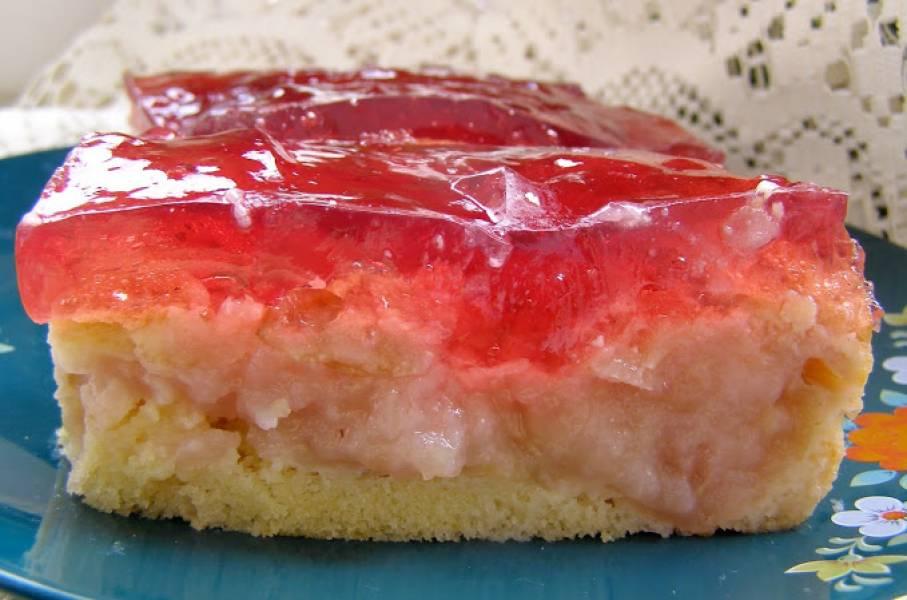łatwe, szybkie ucierane ciasto jabłkowe z galaretką...