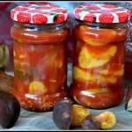 Grzyby w pomidorach