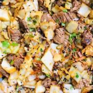 Stir fry z wołowiną i kapustą