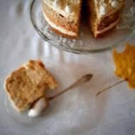 Tort pomarańczowy z makiem i kajmakiem