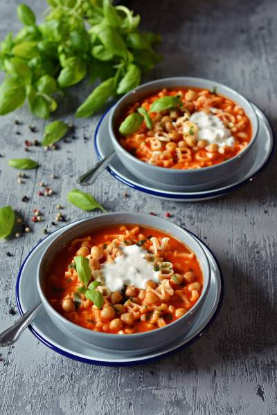 Zupa krem ze smażonych pomidorów