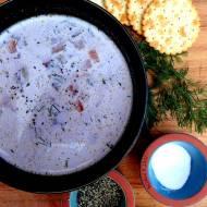 Jesienna zupa koperkowa z warzywami korzeniowymi. Idealna dla osób cierpiących na IBS, low FODMAP