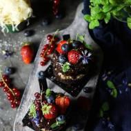 Mini torciki biszkoptowe bounty z kapustą kiszoną