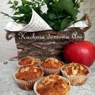 Muffinki szarlotkowe z jabłkiem i migdałami
