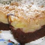 jak szarlotka ciasto kakaowe z jabłkami,kruszonką...