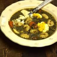 Zupa szczawiowa z gnocchi
