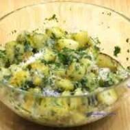 Smażone ziemniaki z masłem ziołowym (pommes persillade)