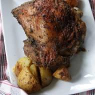 Udo indyka pieczone z ziemniakami