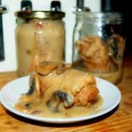 Zrazy z łopatki w sosie pieczeniowo-pieczarkowym, danie na wyjazdy