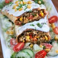 Tortilla z patelni z mięsem mielonym (kebab)