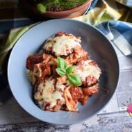 Włoska zapiekanka Parmigiana z makaronem