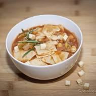 Zupa z ciecierzycy z makaronem quadrucci