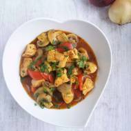Gulasz z kurczaka z papryką i pieczarkami / Chicken Stew with Peppers and Mushrooms