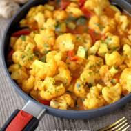 Curry wegetariańskie z kalafiorem i cukinią oraz test patelni Woll.