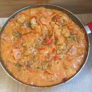 Lekki gulasz z indyka z warzywami