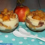 Warstwowy deser z jabłkami