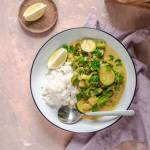 Curry z zielonych warzyw