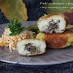 Placki ziemniaczane z grzybami i serem