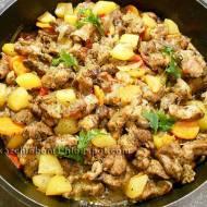 Filet z udźca indyka pieczony z warzywami