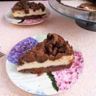Sernik królewski w tortownicy / Polish Cheesecake with Cocoa Crumble